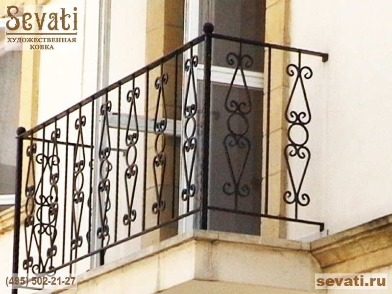 Образцы работ кованых балконных ограждений , кованые изделия.